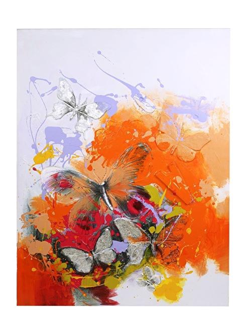 Thanx Co Yağlı Boya Tablo 90x120 cm Renkli